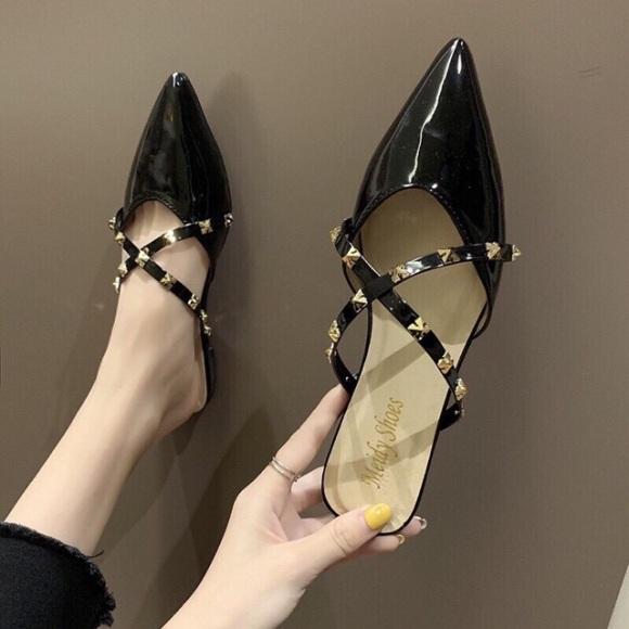 Giày Sục Nữ ,Quai Chéo Đính Đá Sang Trọng giá rẻ