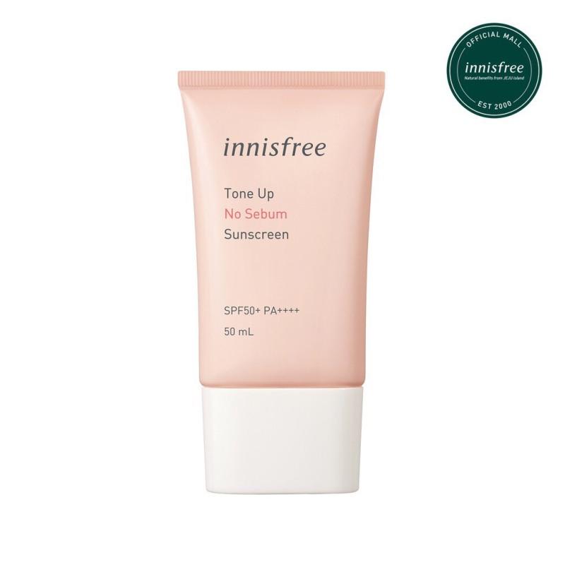 Kem chống nắng kiềm dầu và nâng tông da innisfree Tone Up No Sebum Sunscreen 50ml SPF50+ PA++++ 50ml nhập khẩu