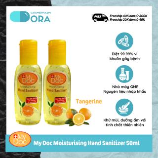 Bộ 2 chai Gel Rửa Tay Khô Diệt Khuẩn My Doc Moisturising Hand Sanitizer 50ml thumbnail