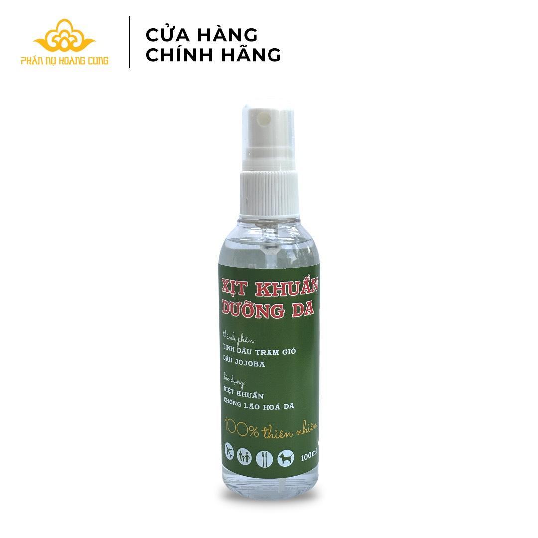Xịt khuẩn dưỡng da Phấn Nụ Hoàng Cung -Tinh chất dầu tràm gió và dầu Jojoba diệt sạch vi khuẩn đồng thời dưỡng mềm da tay nhập khẩu