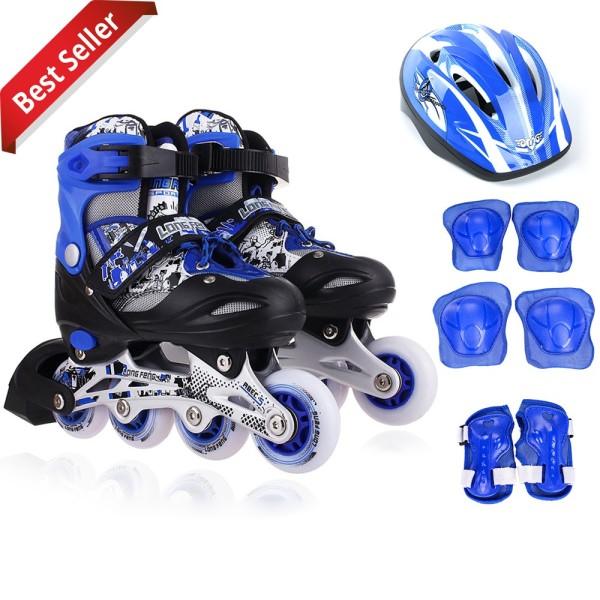 Mua Giày Trượt Patin LongFeng 906 bộ đầy đủ bảo hộ chân tay và mũ chính hãng