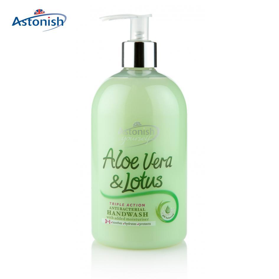 Nước rửa tay diệt khuẩn tinh chất lô hội và hoa sen Astonish C4660 Anh Quốc