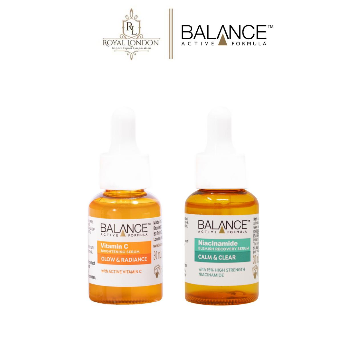 Combo serum ngừa mụn, giảm thâm và làm sáng da Balance Vitamin C và Niacinamide Serum 30ml/chai
