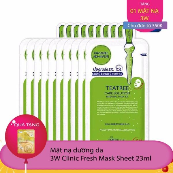 Combo 10 gói Mặt nạ dưỡng da trị mụn chiết xuất tràm trà Mediheal Teatree Care Solution Essential Mask Ex 24ml x10 tốt nhất