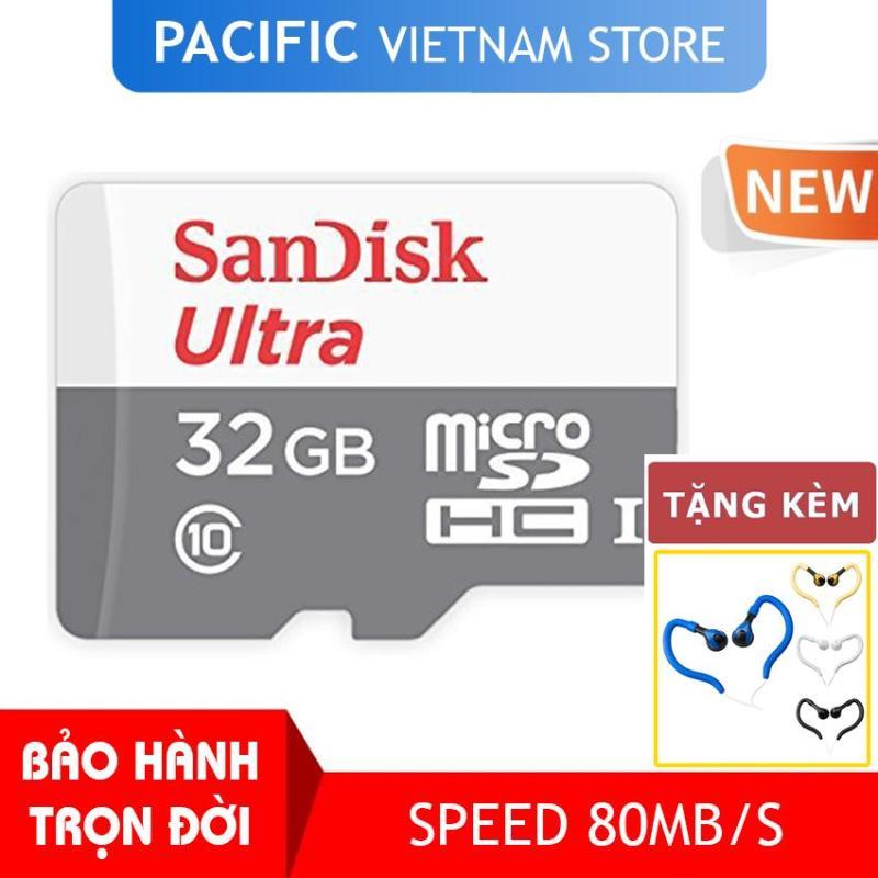 Thẻ nhớ SanDisk 32GB Ultra Class10 2019 - Tặng Tai Nghe Móc Tai Kingrays EA4015