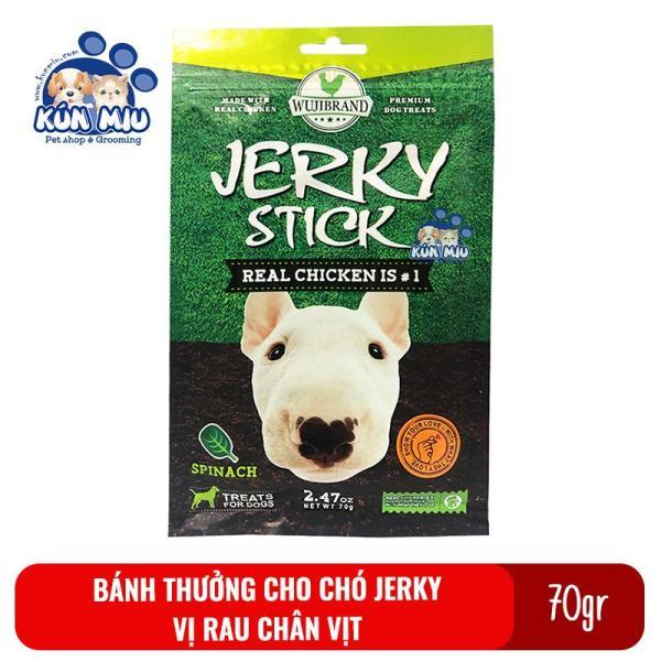 Bánh thưởng cho chó Jerky 70gr Vị rau chân vịt