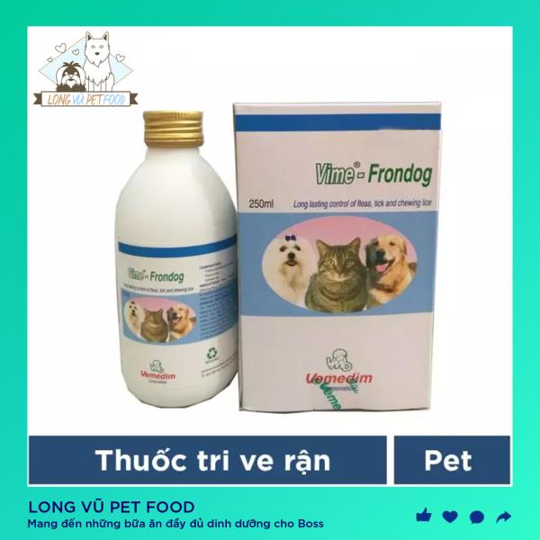 Vemedim Frondog 250ml Xịt diệt ve ghẻ, bọ chét cho chó mèo - Long Vũ Pet Food