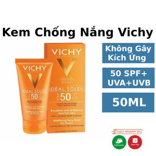 Kem Chống Nắng Vichy Ideal Soleil SPF 50+,Không Gây Nhờn Rít Không Màu, 4 Màng Bảo vệ Da Trước Tia Cực Tím, Thấm Cực Nhanh thumbnail