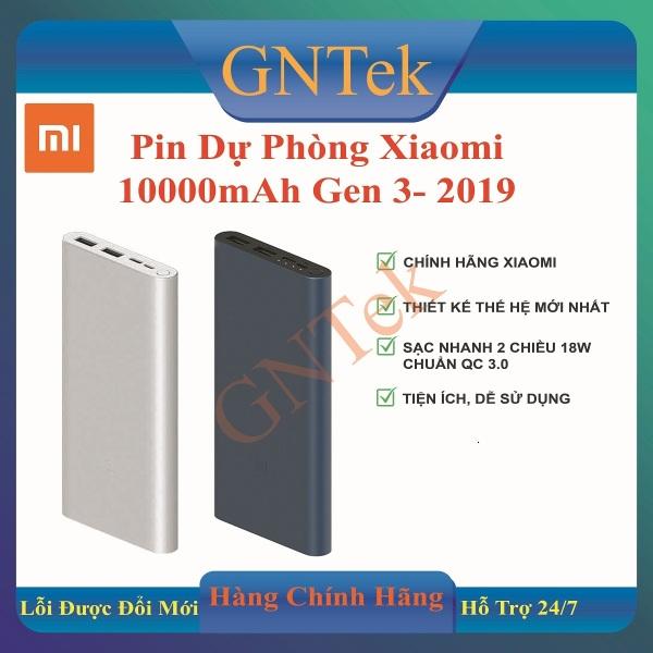 Giá [Miễn phí Ship] [CHÍNH HÃNG XIAOMI] Pin sạc dự phòng Xiaomi 10000mAh gen 3 bản sạc nhanh 2019