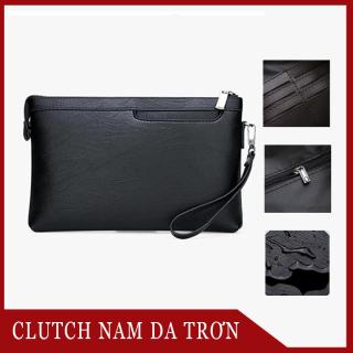 Clutch Túi Da Nam Cầm Tay da trơn Đựng Ví, Điện Thoại, IPad, Clutch nam tiện lợi, thời trang thumbnail