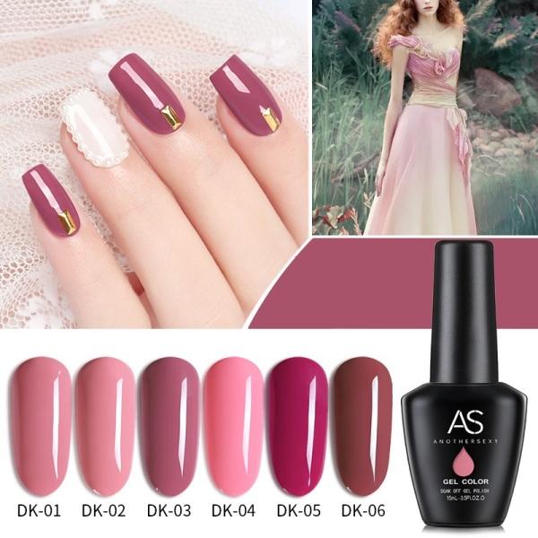 Sơn gel AS - màu hồng đậu mã DK