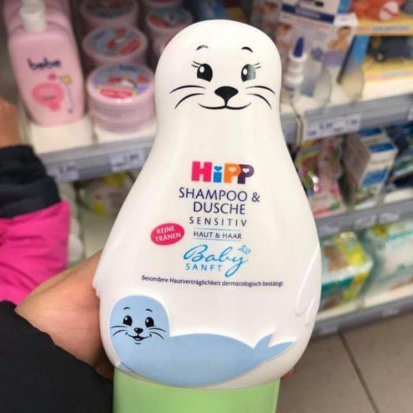 ( Hàng Đức )Sữa tắm gội Hipp hình chú hải cẩu cho bé