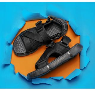 Dép sandal (xăng-đan) quai LƯỚI đế chữ unisex học sinh thời trang phong cách Hàn Quốc cực TGG68-03 6