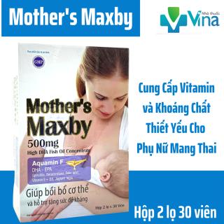[HCM] Bổ Sung Dinh Dưỡng Thiết Yếu Cho Phụ Nữ Mang Thai- Mother s Maxby- Hộp 2 lọ 60 viên thumbnail