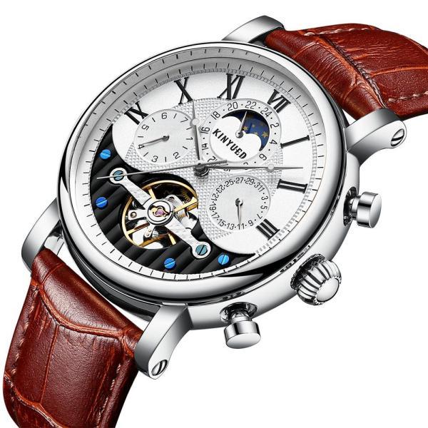 Đồng hồ cơ nam Kinyued JYD-J018 dây da chạy full kim bán chạy