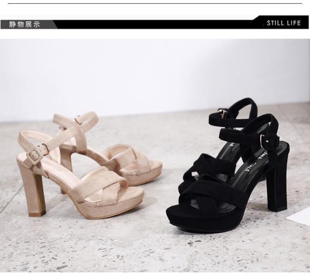 Giày Cao Gót Đúp 12p Quai Chéo Hở Gót LZ057 giá rẻ