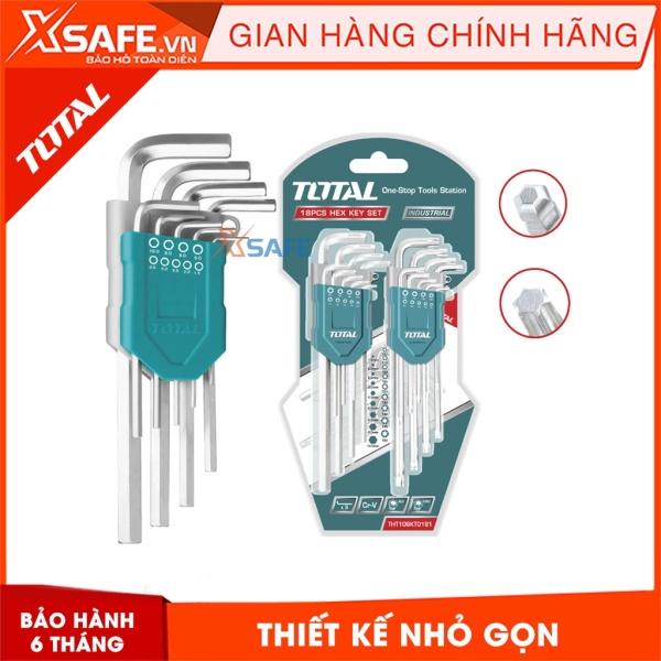 Bộ chìa lục giác bi và lục giác bông TOTAL THT106KT0181 Lục giác làm từ chất liệu Cr-V cứng cáp, chịu lực cao - Sản phẩm chính hãng XSAFE