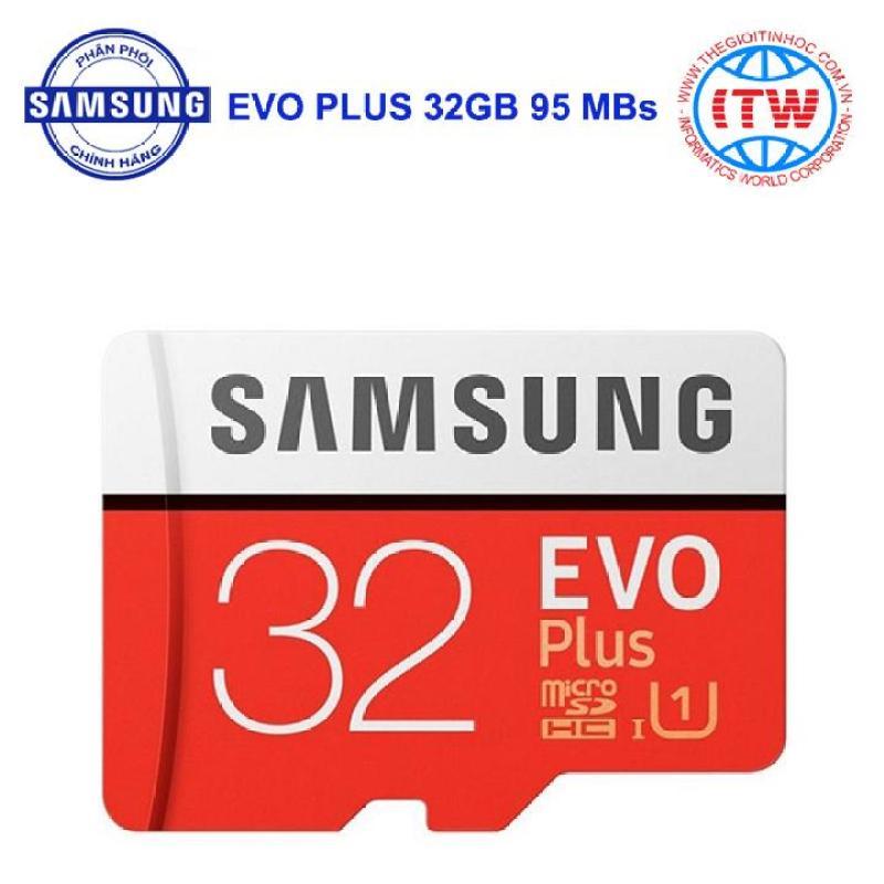 Thẻ Nhớ MicroSDHC Samsung EVO Plus 32GB 95MB/s - Hãng Phân Phối Chính Thức