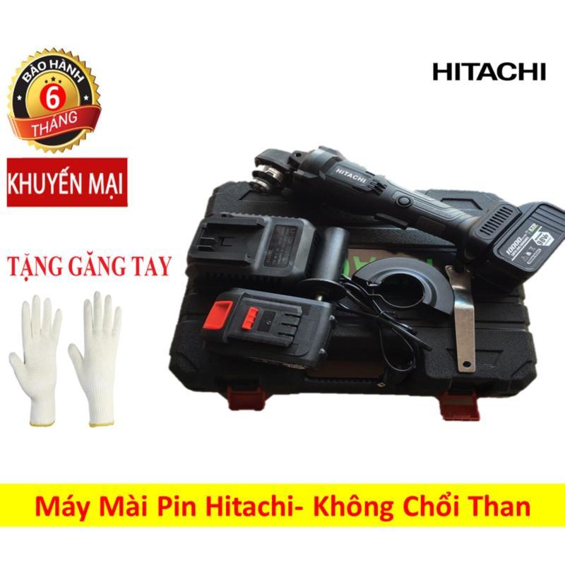 Máy mài góc chạy pin Hitachi điện áp 21v, dung lượng 5.0Ah- Máy mài góc 2 pin không chổi than