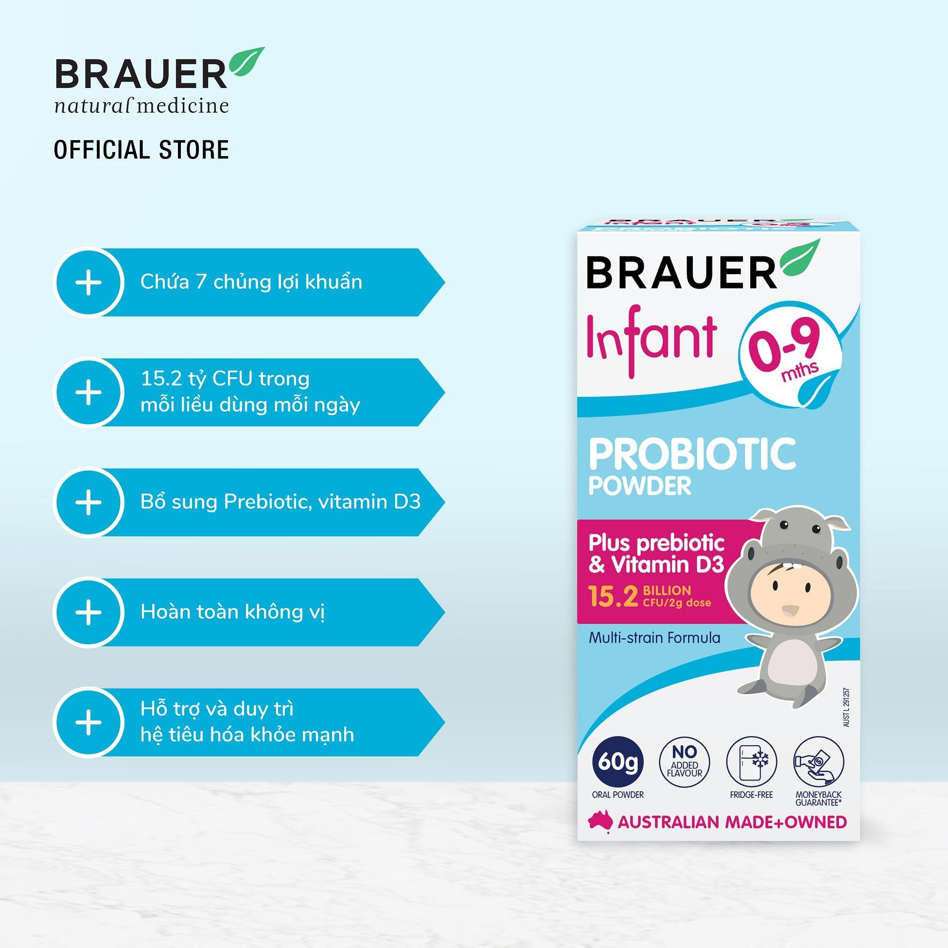 Kết quả hình ảnh cho men vi sinh brauer 0-9 tháng