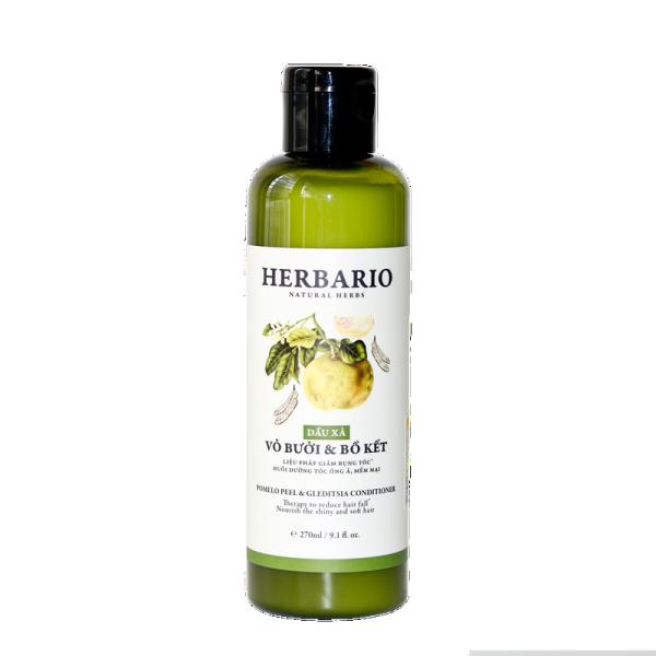 [HCM]Dầu xả Vỏ bưởi và Bồ kết Herbario 270ml giúp ngăn rụng tóc