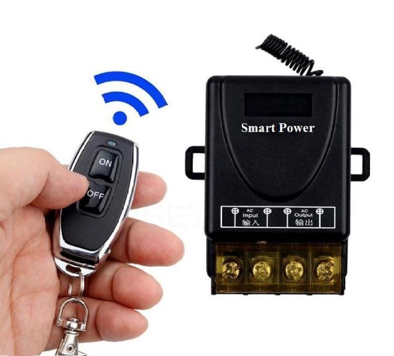 Bộ công tắc không dây bật tắt thiết bị điện công suất lớn Smart Power (30A-ĐEN)