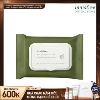 Khăn ướt tẩy trang hương ô liu Innisfree Olive Real Cleansing Tissue (30 Tờ) thumbnail