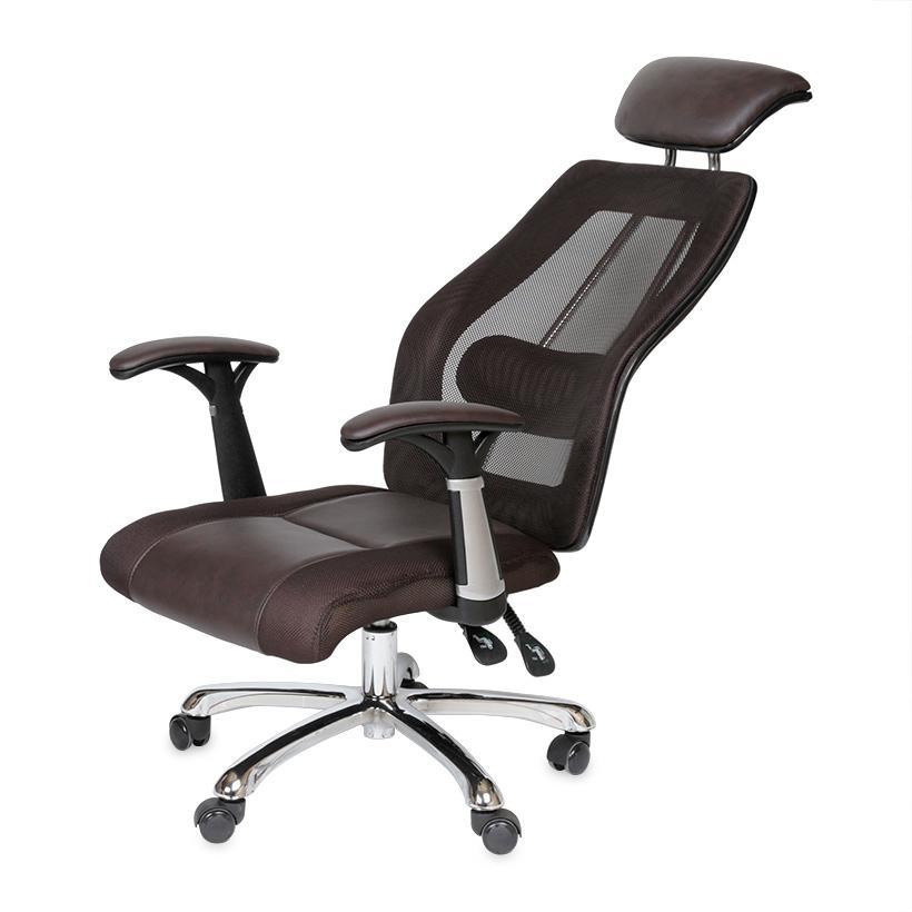 Ghế văn phòng ngả lưng thư giãn MNHC-20303 (ĐEN/NÂU) giá rẻ