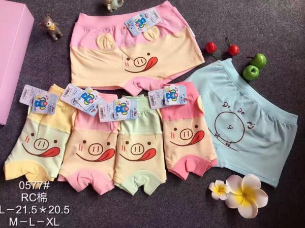 Giá bán Set 5 quần chip đùi hình mặt lợn ngộ nghĩnh đáng yêu cho bé chất mát