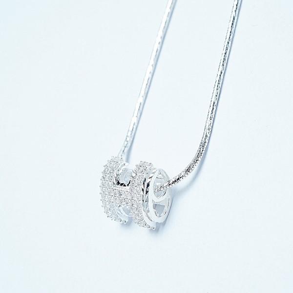 QMJ Dây chuyền bạc 925 cao cấp Chữ H vip nạm đá tinh tế thiết kế độc lạ, thích hợp với cô nàng thích sự độc và lạ trang sức thời trang nữ đẹp - QKL089