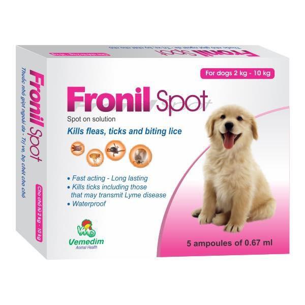 Nhỏ gáy  rận FRONIL SPOT cho thú cưng(1 ống)