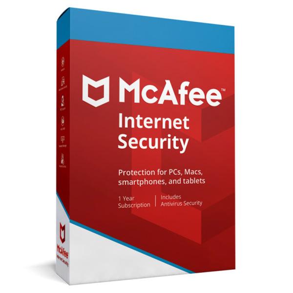 Bảng giá Phần mềm McAfee Internet Security 2020 10 thiết bị / 1 năm Phong Vũ