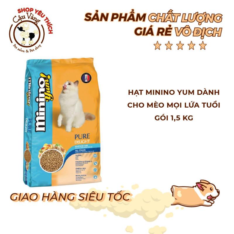 Thức Ăn Hạt Cho Mèo Minino Yum 1.5kg Vị Hải Sản