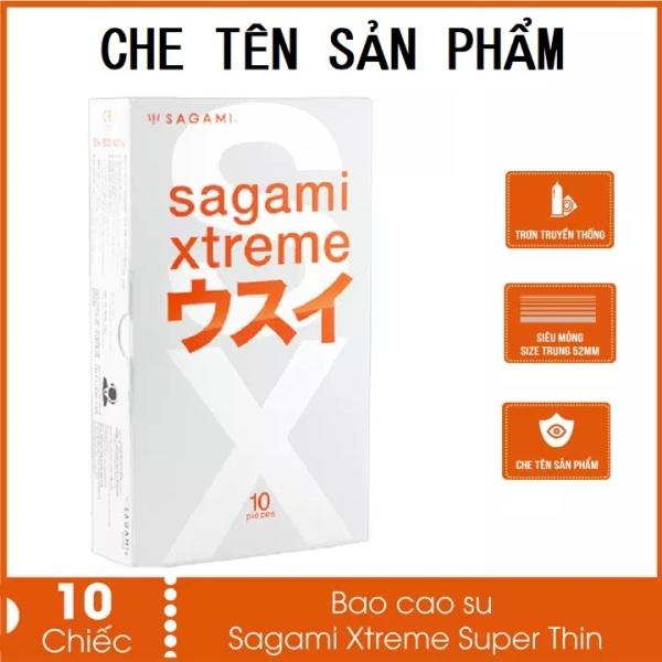 Bao cao su siêu mỏng Sagami Superthin nhiều gel bôi trơn không mùi 1 hộp 10 bcs - thegioisoi