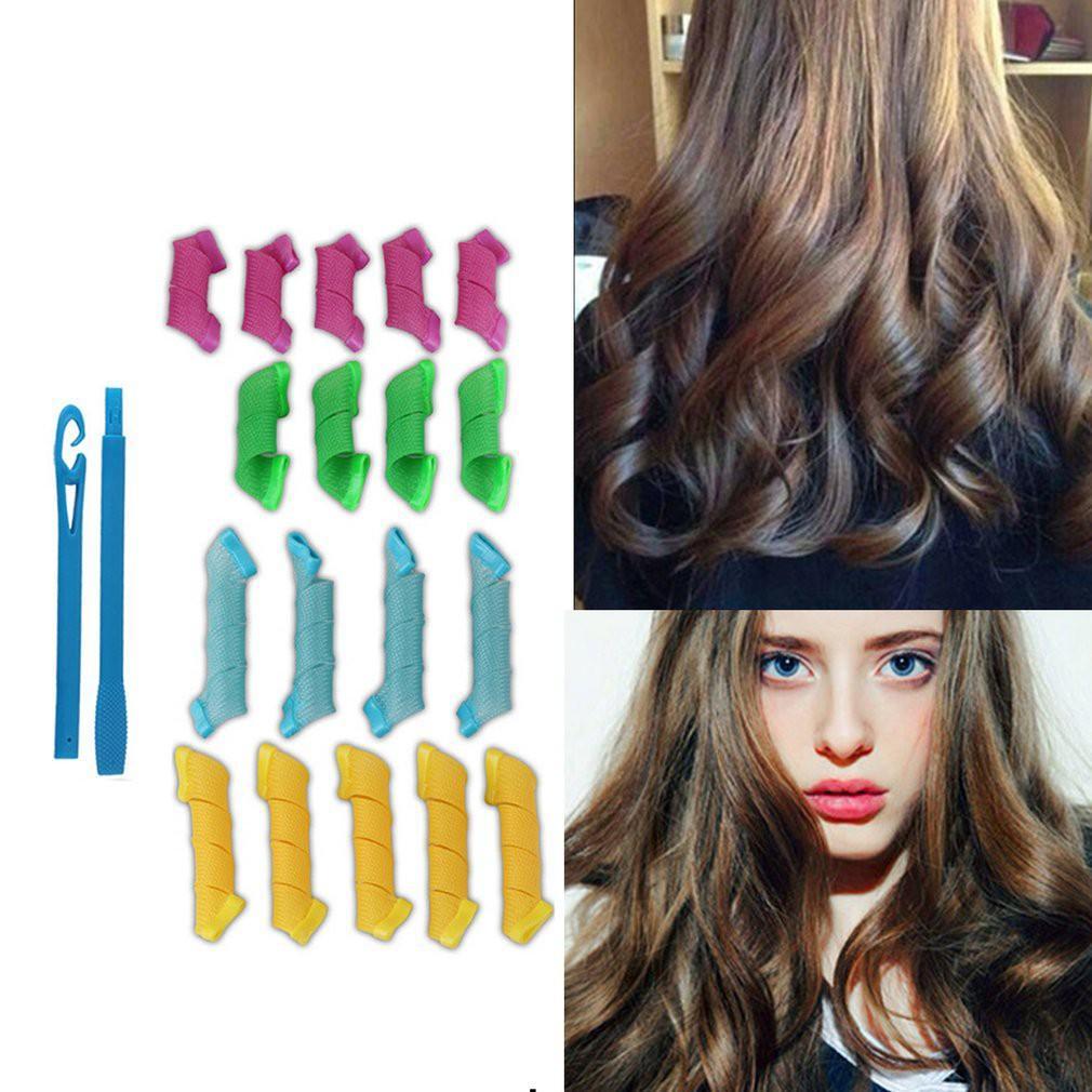 Siêu giá mùa hè Bộ 18 lô uốn tóc không dùng nhiệt (màu ngẫu nhiên) tốt nhập khẩu