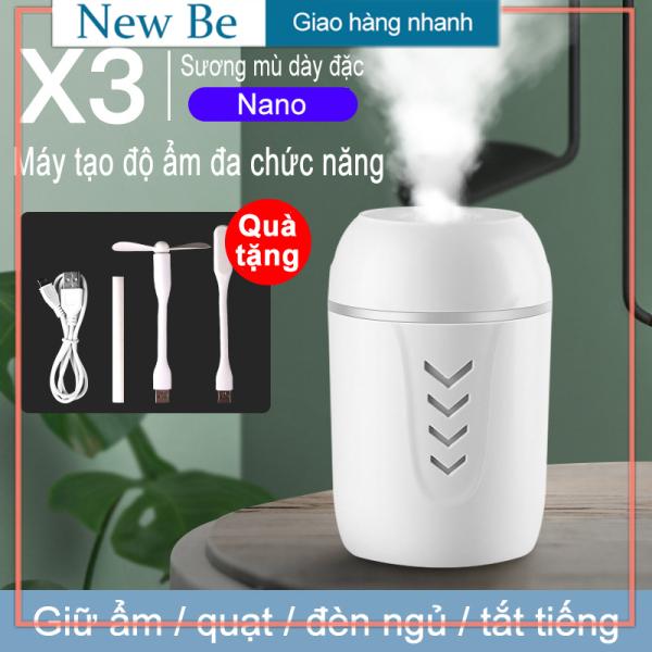 Bảng giá 【New Be】Máy phun sương, máy xông tinh dầu lọc không khí ô tô 3in1 (Máy tạo độ ẩm/Quạt USB / Đèn USB / Cáp sạc / tăm bông) Điện máy Pico