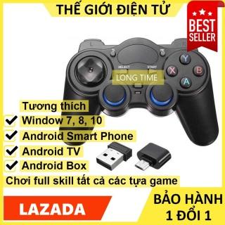 Tay cầm chơi game PC Laptop Điện Thoại TV Android TV Box - Tay cầm chơi game không dây USB Bluetooth 2.4G thumbnail