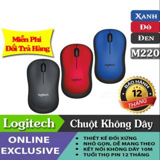 [CHÍNH HÃNG] Chuột Không Dây Logitech M220 Silent - Không Gây Tiếng Ồn, thiết kế nhỏ gọn, thuận tiện khi bỏ túi mang đi. Thiết kế vừa tay người dùng khi sử dụng Có Nút Bật Tắt Nguồn Tiết Kiệm Năng Lượng, Bảo Hành 3 Năm. thumbnail