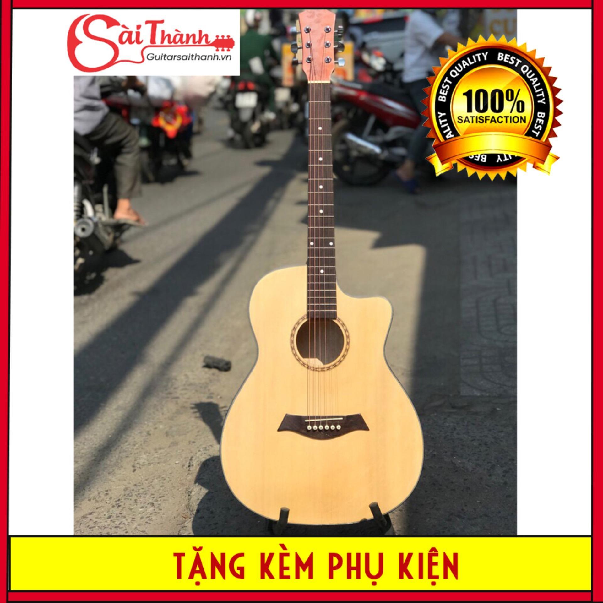 đàn guitar acoustic GV850.ET có ty chỉnh cần