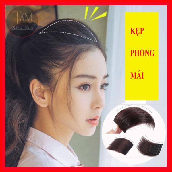 Kẹp phồng mái đẹp chất tóc hàn quốc, tóc giả hàng loại 1 dài 10-15cm - GIÁ 1 CHIẾC - KPM cao cấp