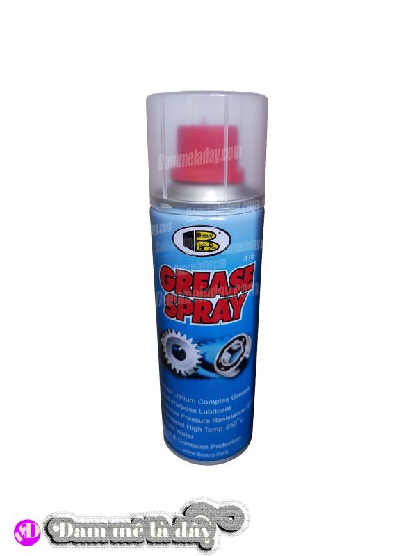 Dầu bôi trơn grease spray cao cấp Bosny
