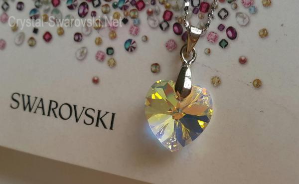 Mặt dây chuyền pha lê Swarovski cao cấp pendant hình trái tim 6228 AB