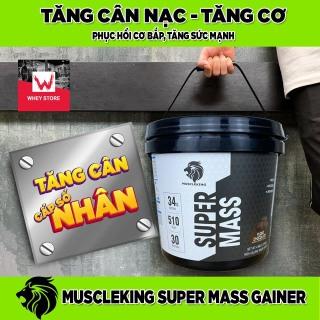 (Tặng Shaker) Sữa Tăng Cân SUPER MASS 2,25 KG - MUSCLE KING -SỮA TĂNG CÂN NHANH - TĂNG CÂN NẠC- TĂNG CƠ thumbnail
