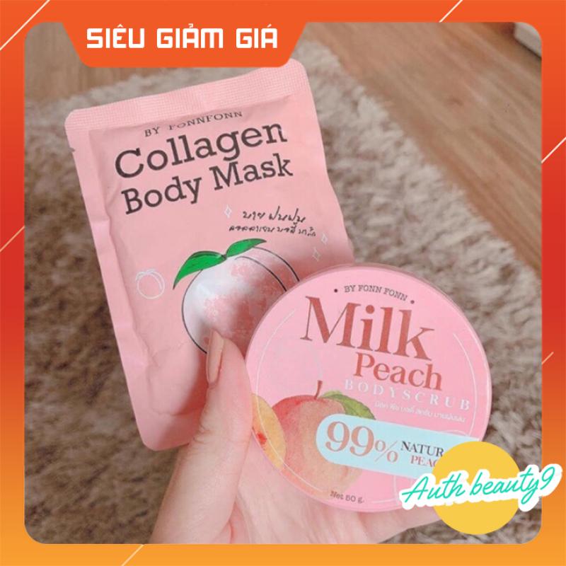 Ủ TRẮNG ĐÀO Collagen Body Mask (50g) SIÊU TRẮNG NHANH, BẬT TÔNG CHỈ SAU 1 LIỆU TRÌNH