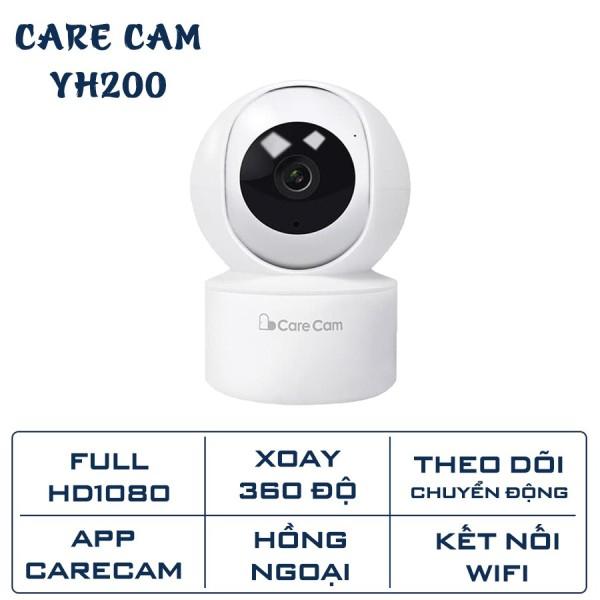 Camera wifi Camera giám sát CareCam 2.0mpx YH200 1080 full hd xoay theo chuyển động đàm thoại 2 chiều bảo hành chính hãng 12 tháng YH200