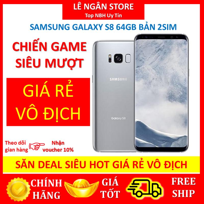 Điện Thoại Samsung Galaxy S8 2Sim Ram 4Gb/64Gb Mới Màn hình vô cực tràn viền Màn hình: Super AMOLED, 5.8, Quad HD+ (2K+)/ CPU: Exynos 8895 8 nhân Giá Cực rẻ Bảo Hành 1 đổi 1
