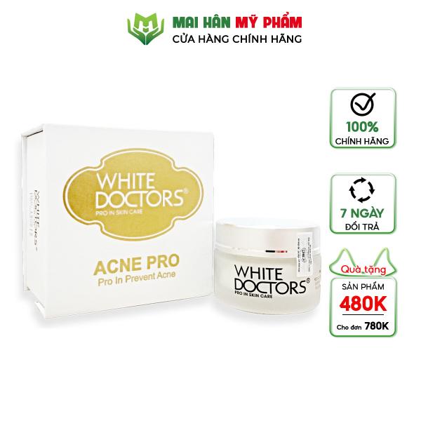 Kem trị mụn ngừa sẹo thâm White Doctors Acne Pro 25g giá rẻ