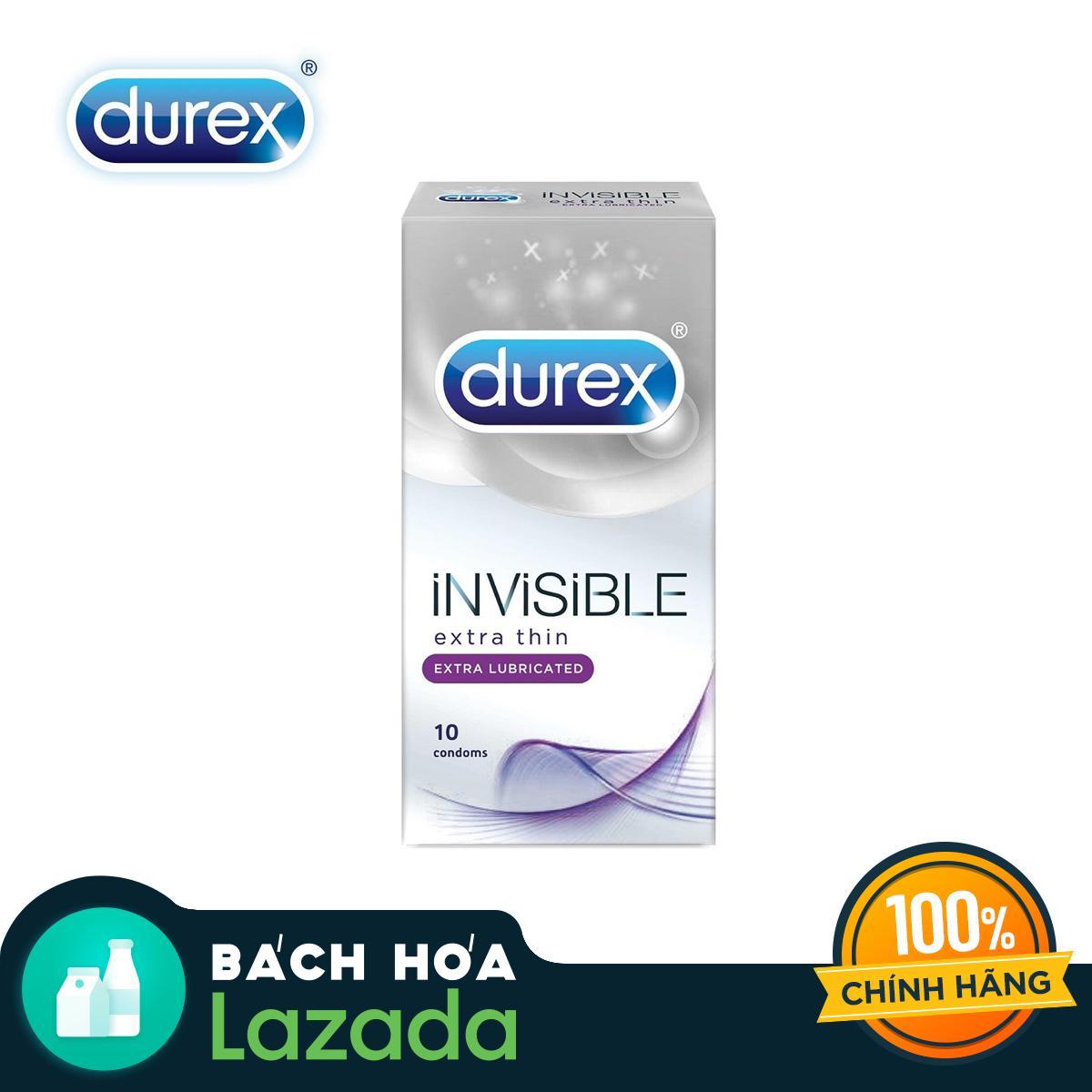 Bao cao su Durex Invisible Extra Lubricant 10 bao