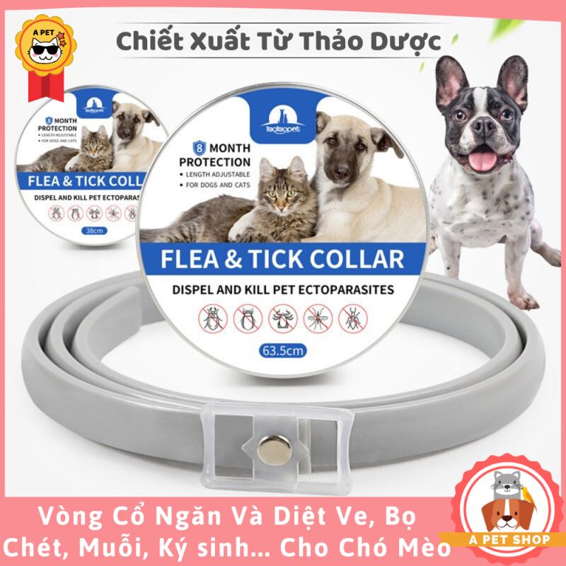 Vòng Cổ Ngừa Ve, Bọ Chét, Muỗi, Ký Sinh Cho Chó Từ Thảo Dược - A Pet Shop