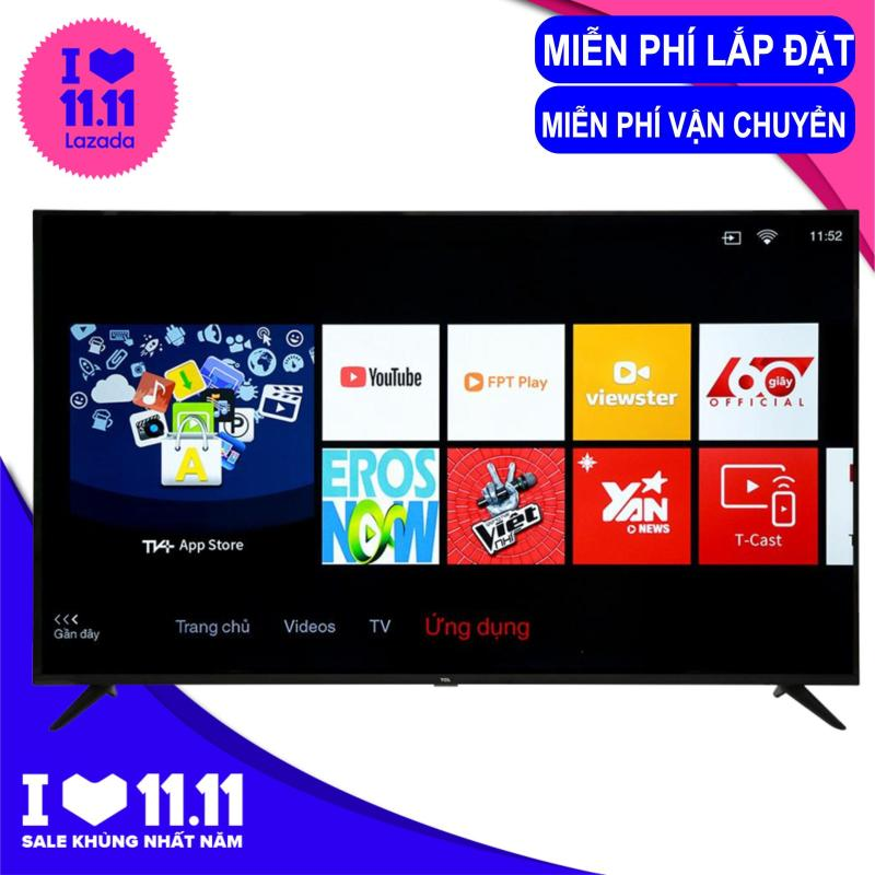 Bảng giá Smart Tivi TCL 4K 55 inch L55P65-UF Ultra HD, cổng LAN, Wifi 3 cổng HDMI, Jack loa 3.5 mm, cổng Optical, công suất 125 W